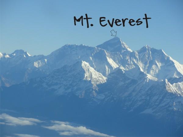 mt everest graphic