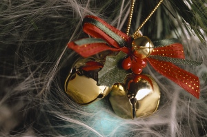 christmas jingle bell ornament