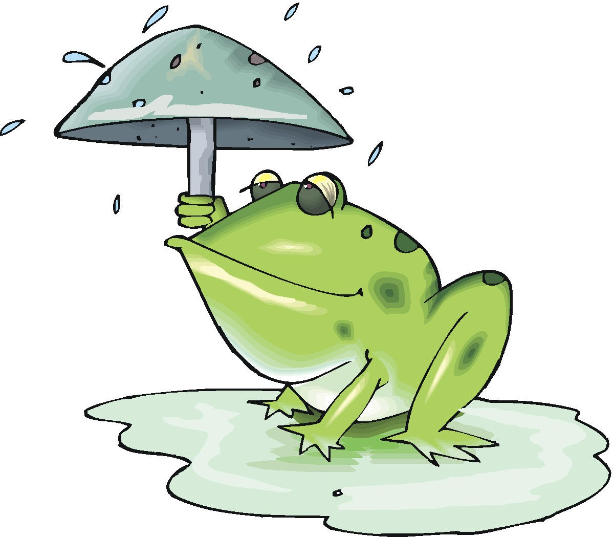Image result for frog with umbrella cartoon
